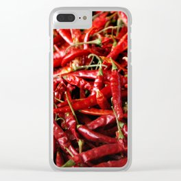 Love of Chili Clear iPhone Case