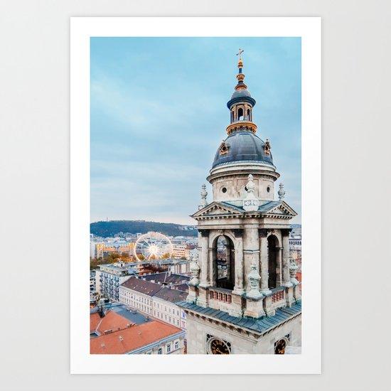 Budapest View Fine Art Print by sidecarphoto