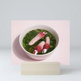 Fingers soup Mini Art Print