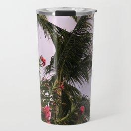 Bahamian Pink Flowers Travel Mug