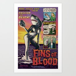 Fins of Blood Art Print