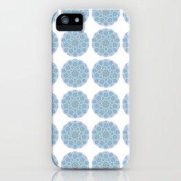 Collage of blue madalas iPhone Case