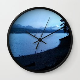 Mountains O'er the Canal Wall Clock