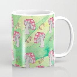 Toadstool and Berries Pattern Coffee Mug