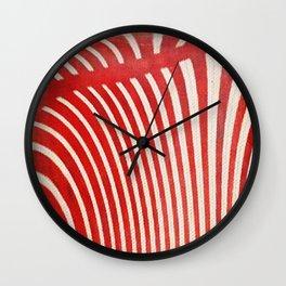 A Mess of Zebras Wall Clock