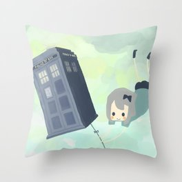 tardis sky Throw Pillow