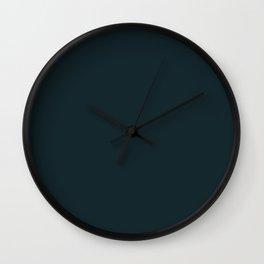 Pensive Daisy Dark Blue-Green Wall Clock