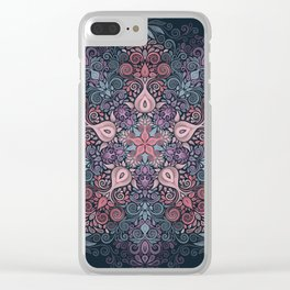 Baroque Garden, Ornate Watercolor Pattern Clear iPhone Case