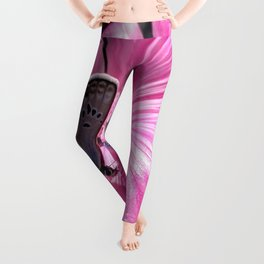 Butterfly on pink picnic Leggings