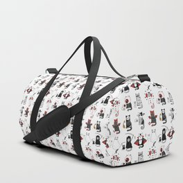 Halloween Cats In Terrible Imagery Duffle Bag