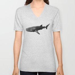 Big Fish, B & W Unisex V-Neck
