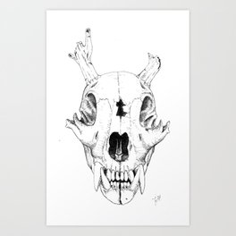 Poached Knowledge II (Cornursus) Art Print