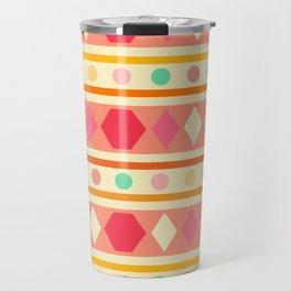 Happy Tribal Pattern Travel Mug