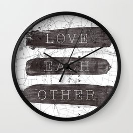 Love Each Other Wall Clock
