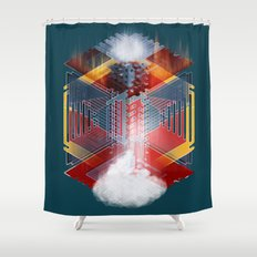 The Bottomless Tower Shower Curtain