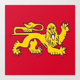 drapeau de l'aquitaine-France,Europe,Sud-ouest,aquitain, guyenne,Bordeaux,rouge,lion,Gasconne Canvas Print