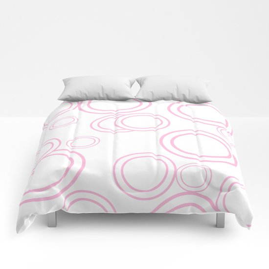 Abstract circles - abstract patterns - pink Comforters