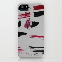 Grabado negro y rojo iPhone Case