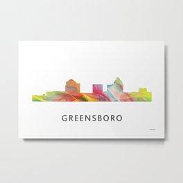 Greensboro NC Skyline Metal Print