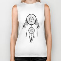 dream catcher Biker Tanks featuring DREAM CATCHER by shannon's art space