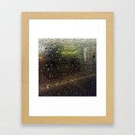 Rainy Morning Commute Framed Art Print