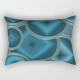 Blue Satin abstract pattern . Rectangular Pillow