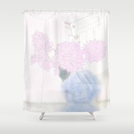 Grand Rapids flowers Shower Curtain