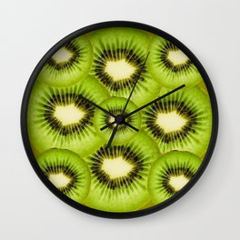 TROPICAL GREEN KIWI SLICED FRUIT MODERN ART Wall Clock