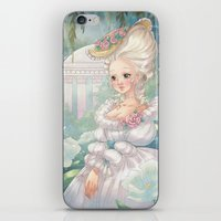 marie antoinette iPhone & iPod Skins featuring Marie-Antoinette by Pich illustration