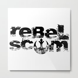 show your allegiance… rebel scum Metal Print