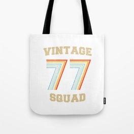 VINTAGE SQUAD 77 Tote Bag