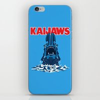 pacific rim iPhone & iPod Skins featuring KaiJaws (Pacific Rim/Jaws) by Tabner's