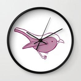 Robin- Raspberry Wall Clock