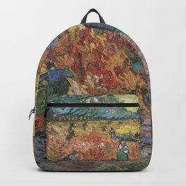 Vincent Van Gogh - The Red Vineyards in Arles Backpack