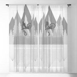 MTB Whip Gray Sheer Curtain