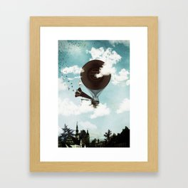 Swan Lake Up in the Air Framed Art Print