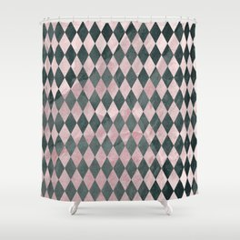 Marble Harlequin Shower Curtain