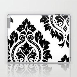 Decorative Damask Art I Black on White Laptop & iPad Skin