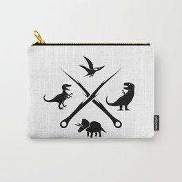 Hipster Dinosaurs Logo (black version) Carry-All Pouch