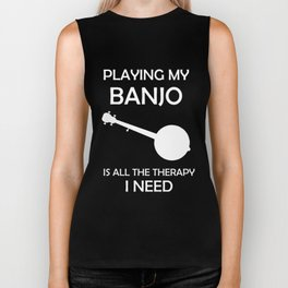 Awesome Banjo's Tshirt Design Playing my Banjo Biker Tank