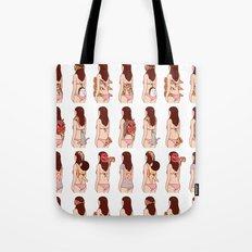 Girl & Pizza Tote Bag
