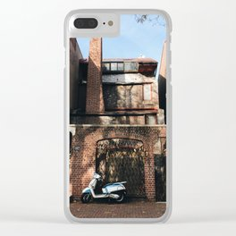 a vespa on delancey Clear iPhone Case