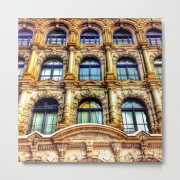 Old Montreal Building Close-Up Metal Print