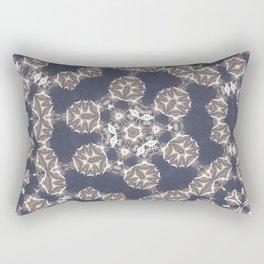 Beautiful blue soft circle pattern Rectangular Pillow