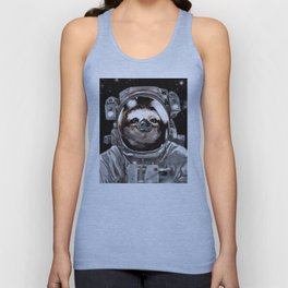 Astronaut Sloth Selfie Unisex Tank Top