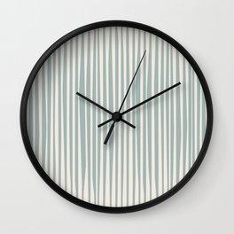 Basic | Irregular Stripes Blue Wall Clock