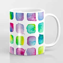 Watercolor Squares Coffee Mug