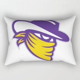 Bandit Covered Face Icon Rectangular Pillow
