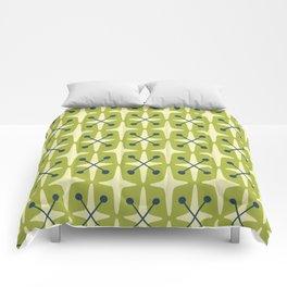 Mid Century Modern Star Pattern 541 Chartreuse Comforters