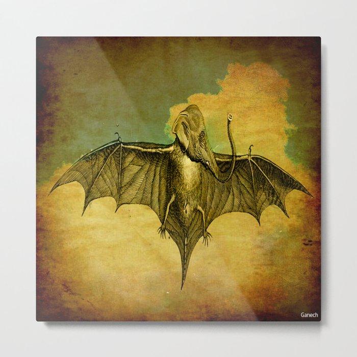 Bat - Elephant  Metal Print